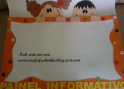 Mah arte em eva painel informativo for Aviso de ocasion mural