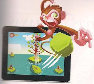 Pula Macaco para celulares e tablets.