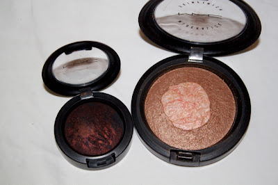 MAC Semi Precious haul goldstone msf smoked ruby eye shadow