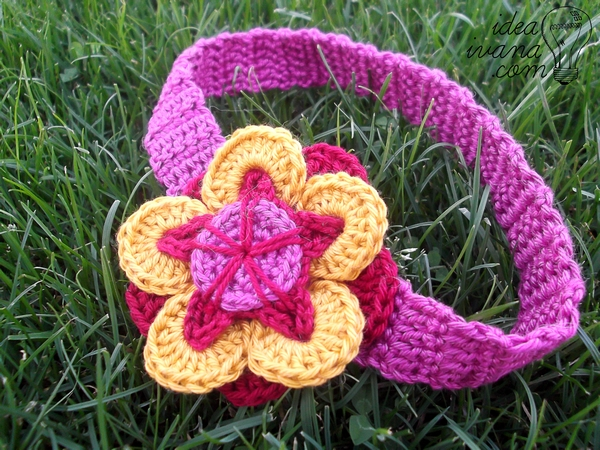 flower headband crochet pattern free