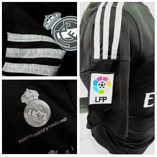 jual online jersey bola kualitas grade ori Jersey Real Madrid goalkeeper terbaru musim 2015/2016