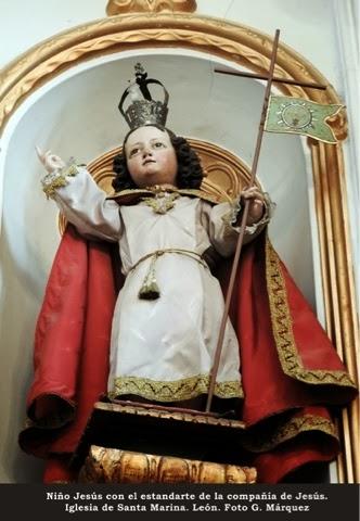 Niño Jesús con el estandarte de la compañía de Jesús. Iglesia de Santa Marina. León. Foto G. Márquez