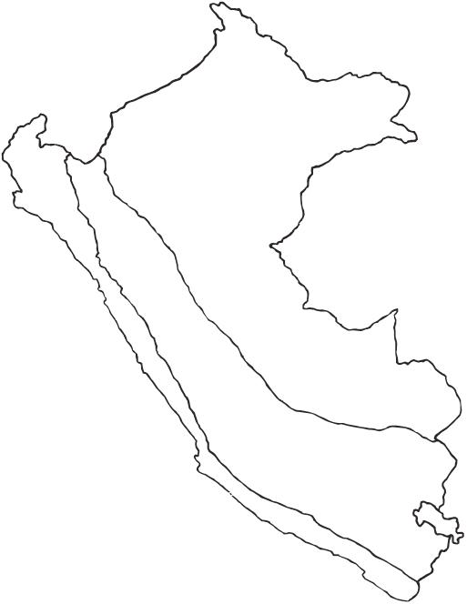 Mapa del Perú con sus regiones naturales para colorear - Imagui