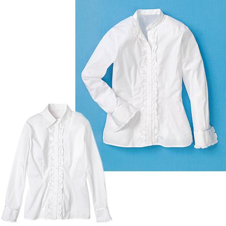 Бяла блуза вталяване