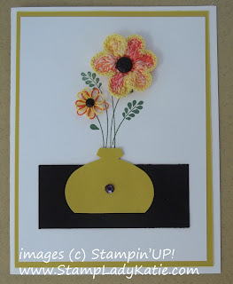 Card with a Punch Art Vase made with Stampin'UP!'s Ornament Punch