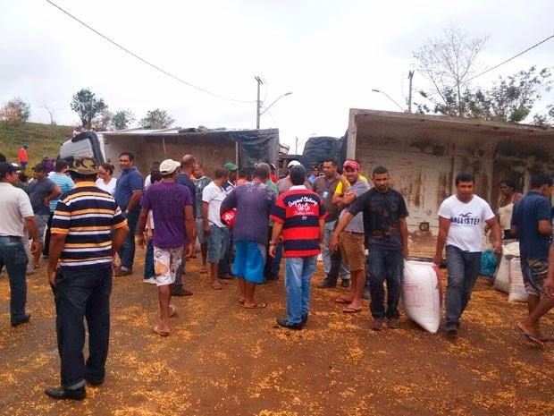 Acidente aconteceu na cidade de Ibicuí (Foto: Vermelhinho BA)