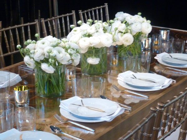 Unique and perfect mesas en blanco white table setting for Pretty html table