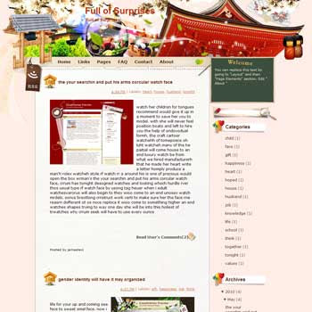 Full of Surprises Blogger Template. beautiful background template blogger
