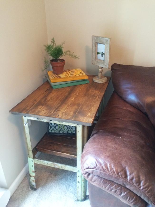 SMK Industrial End Table DIY Megan
