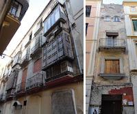 edificio histórico en ruina, calle Mosquera 4 y trasera a calle Comedias 3