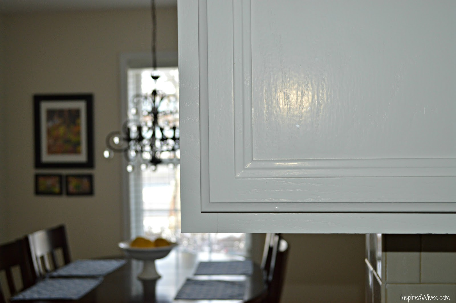is durable and easy to clean I just love my white kitchen cabinets