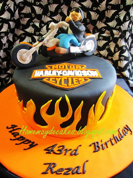 Home Mayde Cakes The Making Harley Davidson Dude Cake