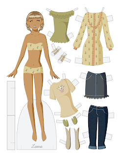 Laura - Fashion Friday Paper Doll