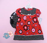 Cutie Pie Red Polka, 0-3m, 3-6m, 6-9m, RM29