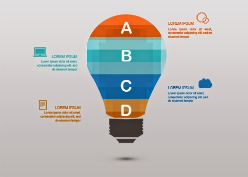 Video Tutorial Create Geomoetric Light Bulbs Infographic In Photoshop
