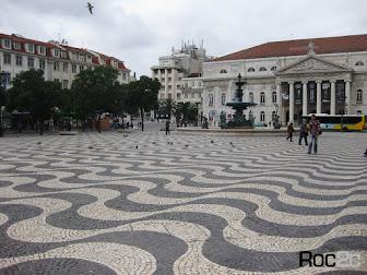 Fantástico pavimento em Calçada à Portuguesa