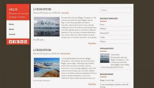 Helix - Free Blogger Template