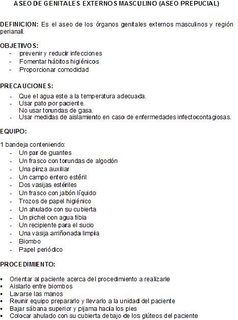 FUNDAMENTOS DE ENFERMERIA: Aseo de Genitales Externos ...