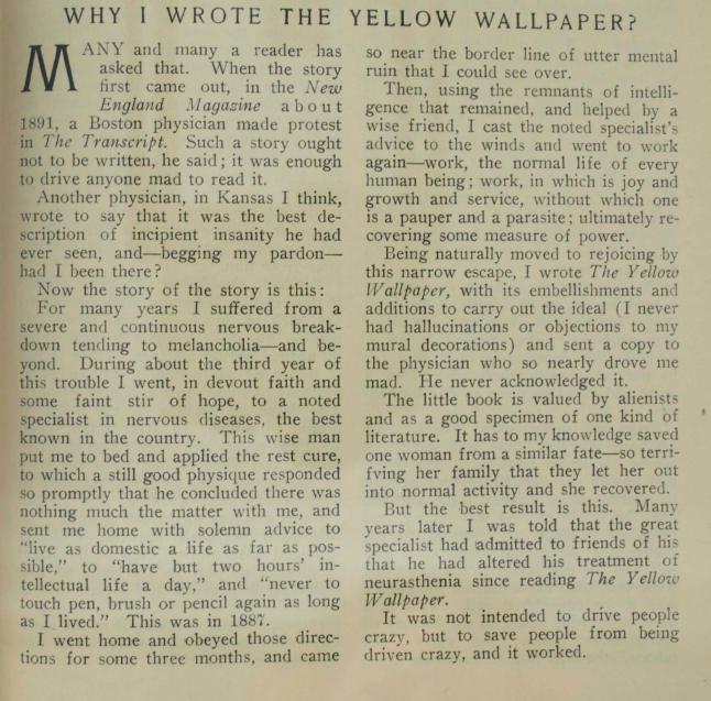 Mi diario literario y cinematogr fico el papel pintado for Papel pintado periodico