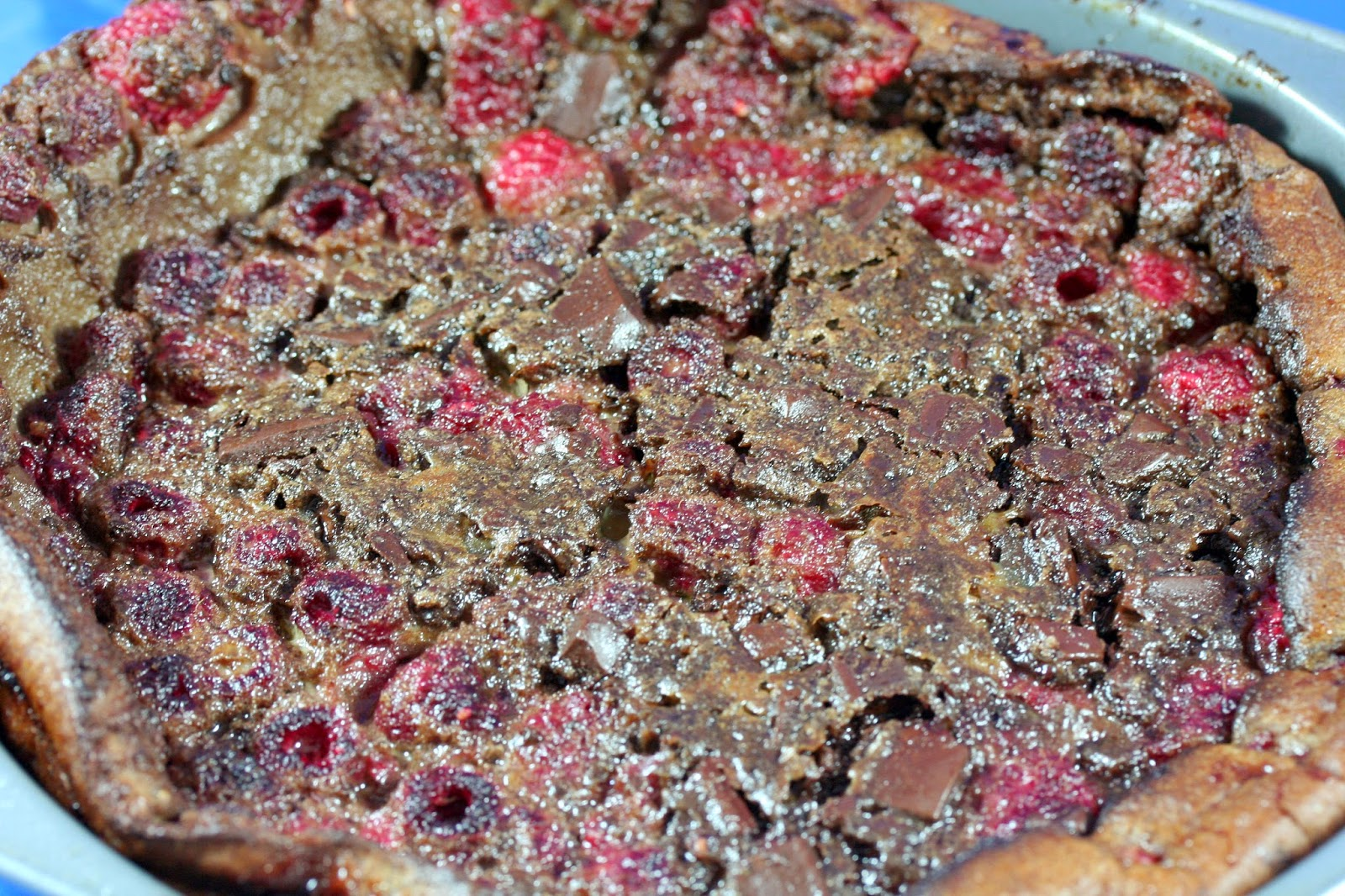 Culturally Confused: Gourmet: Chocolate Raspberry Clafoutis