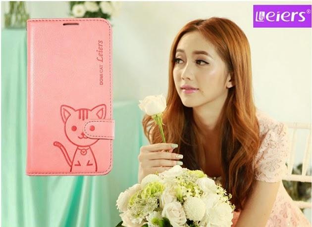 เคส note 4 - domi cat สีชมพู