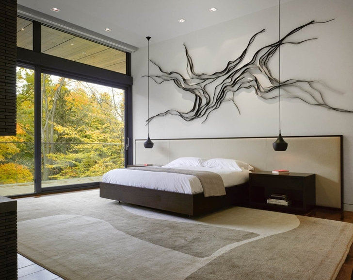 Large bedroom in Modern mansion by Belzberg Architects Group