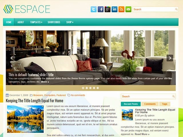 Espace - Free Wordpress Theme