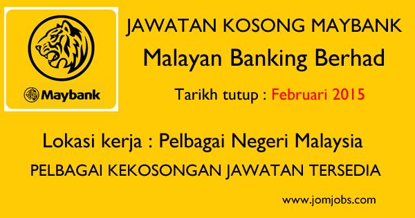 Jawatan Kosong MAYBANK Terkini Februari 2015