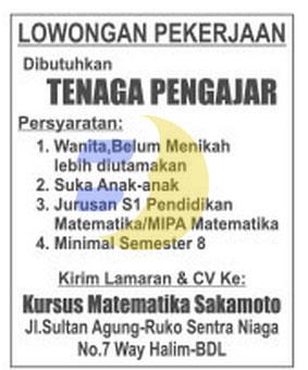 Kursus Matematika SUKAMOTO Lampung