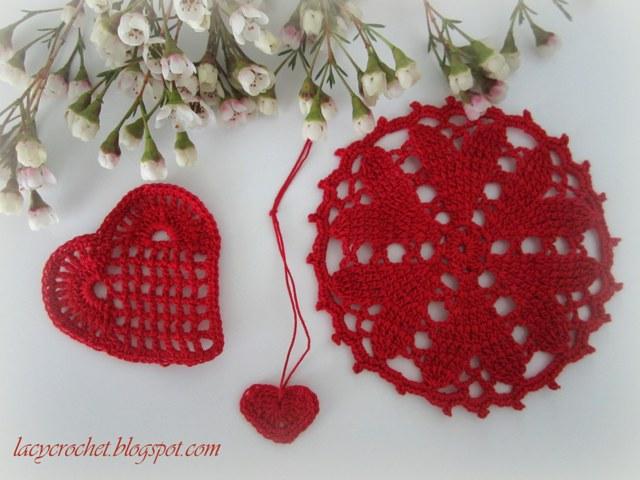 Вязание крючком. день святого валентина