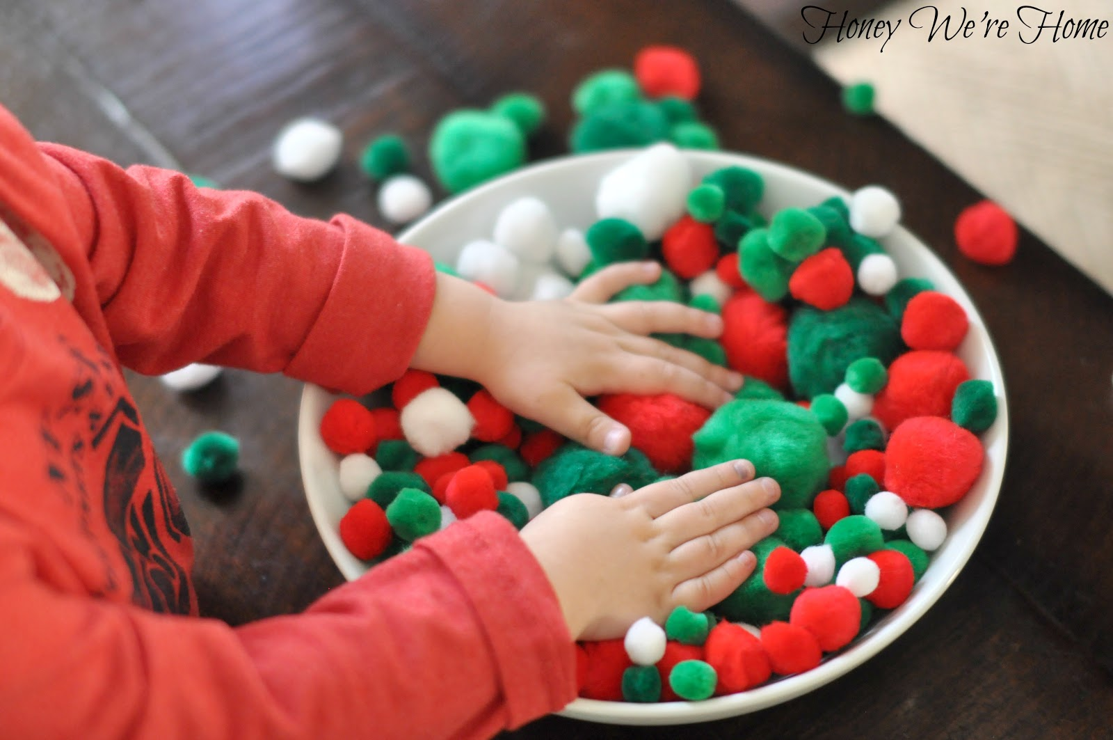 Diy Christmas Pom Pom Garland Honey We Re Home