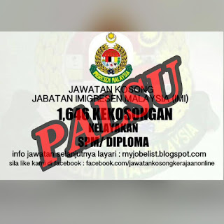Jabatan Imigresen Malaysia Kerja Kosong Tidak Benar