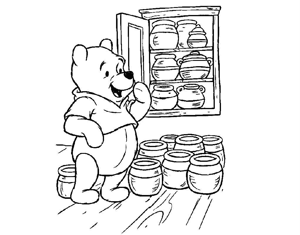 imagens para colorir do ursinho puff - Turma do Pooh Jogos de Colorir e Pintar