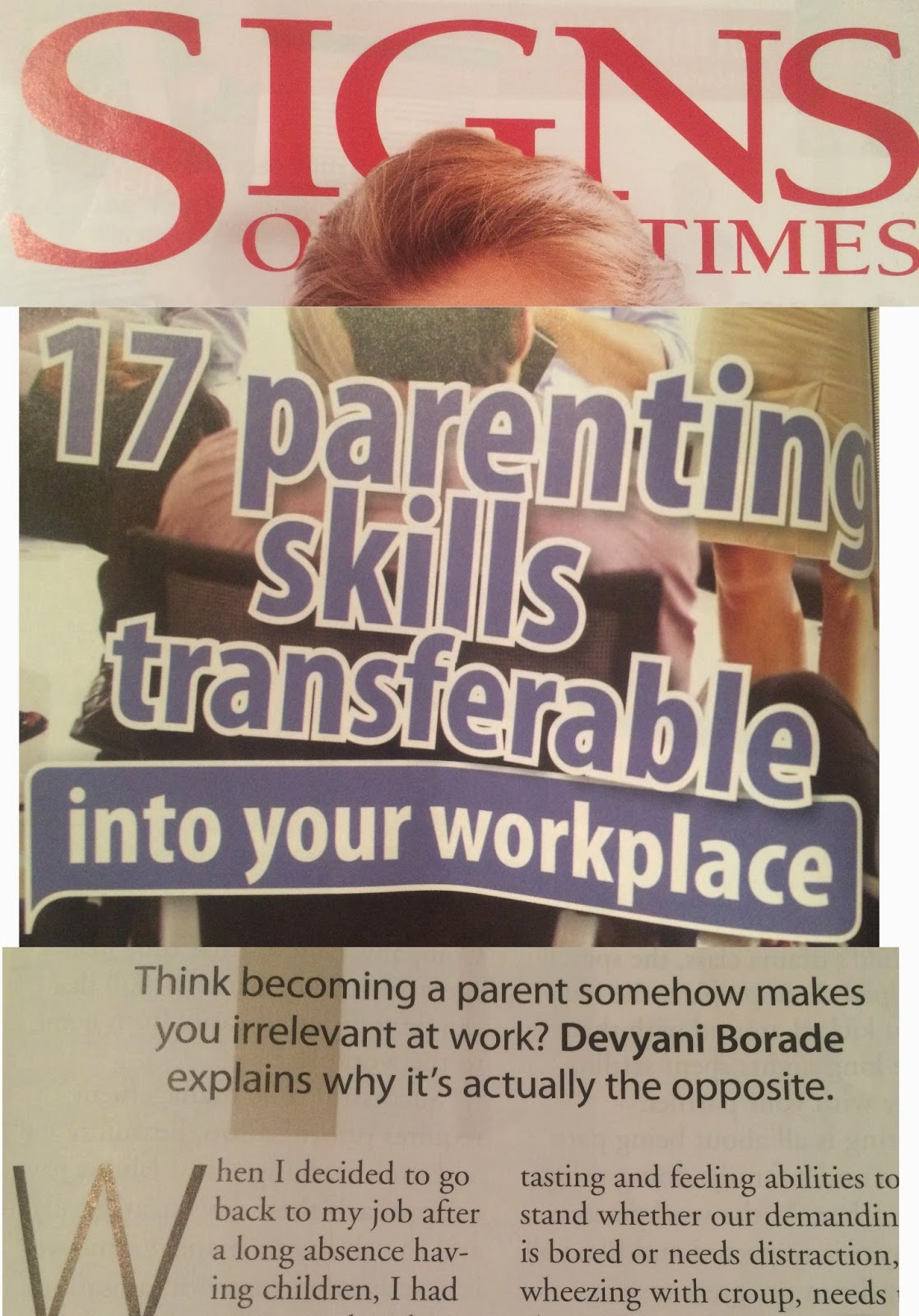Verbolatry - Devyani Borade - 17 Parenting skills transferable into your workplace - Signs Of The Times
