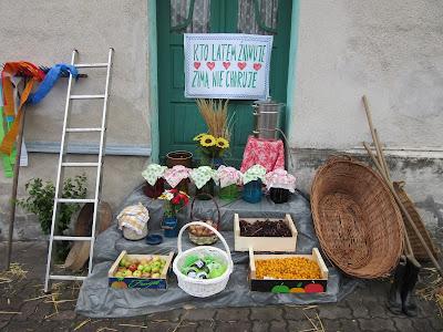 Dożynki 2015 Krzanowice dekoracje dożynkowe Anna Kussy