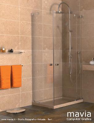 Arredamento di interni arredo bagni moderni rendering for Arredo bagno con doccia