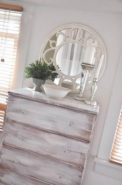 fotos de muebles de pino patinados - Pintar pino en Decapé blanco El Taller de lo Antiguo