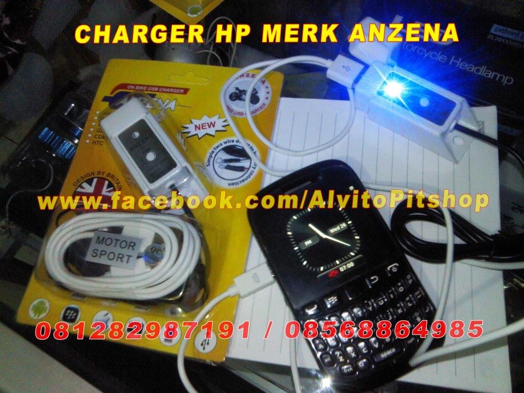 Alvito Pitshop Lighting Solution Charger Hp Anzena Waterproof Motor Usb Dengan Tombol On Off Cover Kabel Panjang 1 Meter Braket Untuk Ke Stang