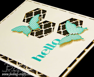 Hello Beautiful Butterflies Card by UK based Stampin' Up! Demonstrator Bekka Prideaux - check out her blog for lots of great ideas using the Papillon Potpourri Stamp Set