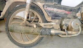 Motor Kenalpot Bambu