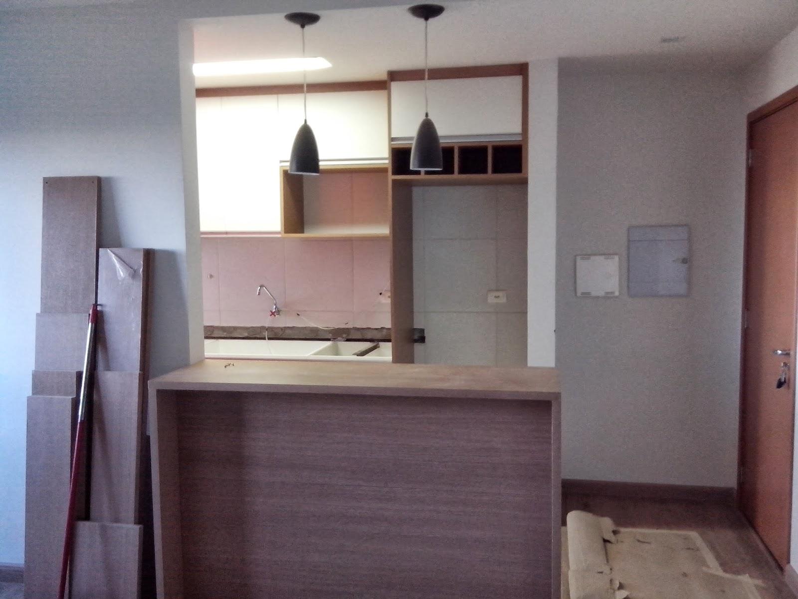 Reforma do meu apê: Montagem cozinha e lavanderia #3D5D8E 1600x1200