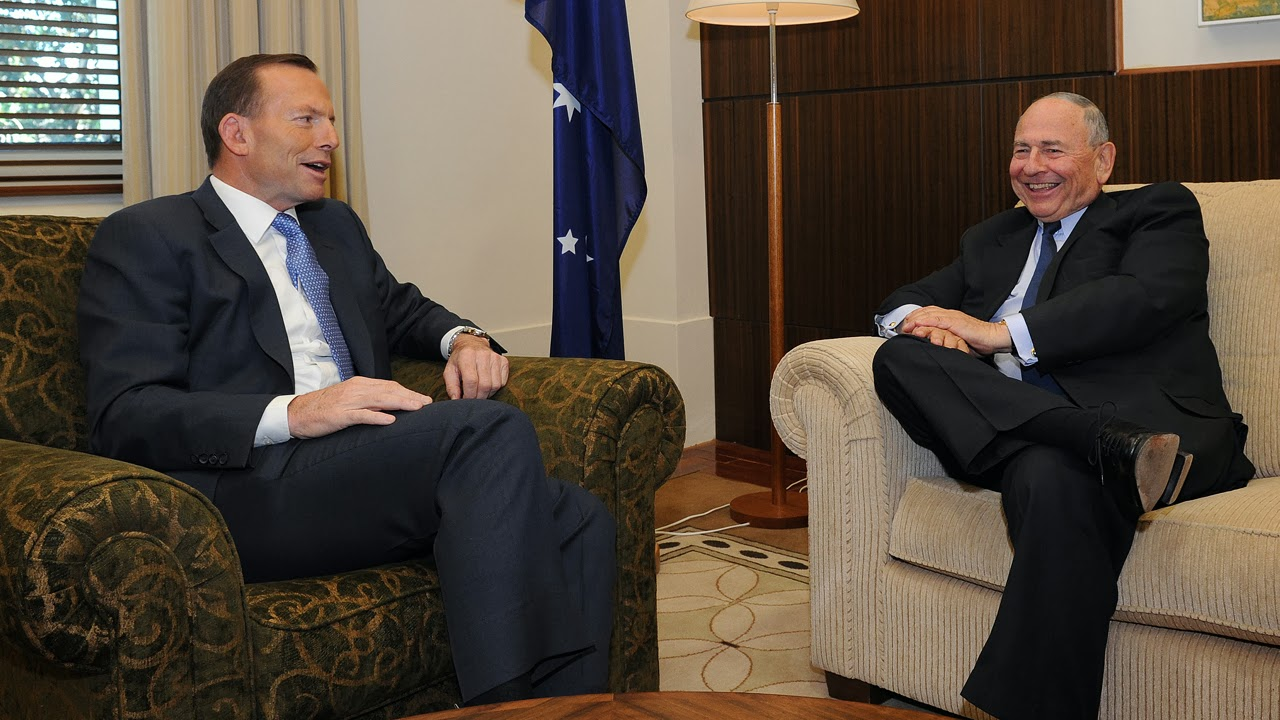 Tony Abbott & Maurice Newman.