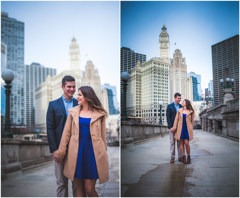 Chicago downtown engagement photo