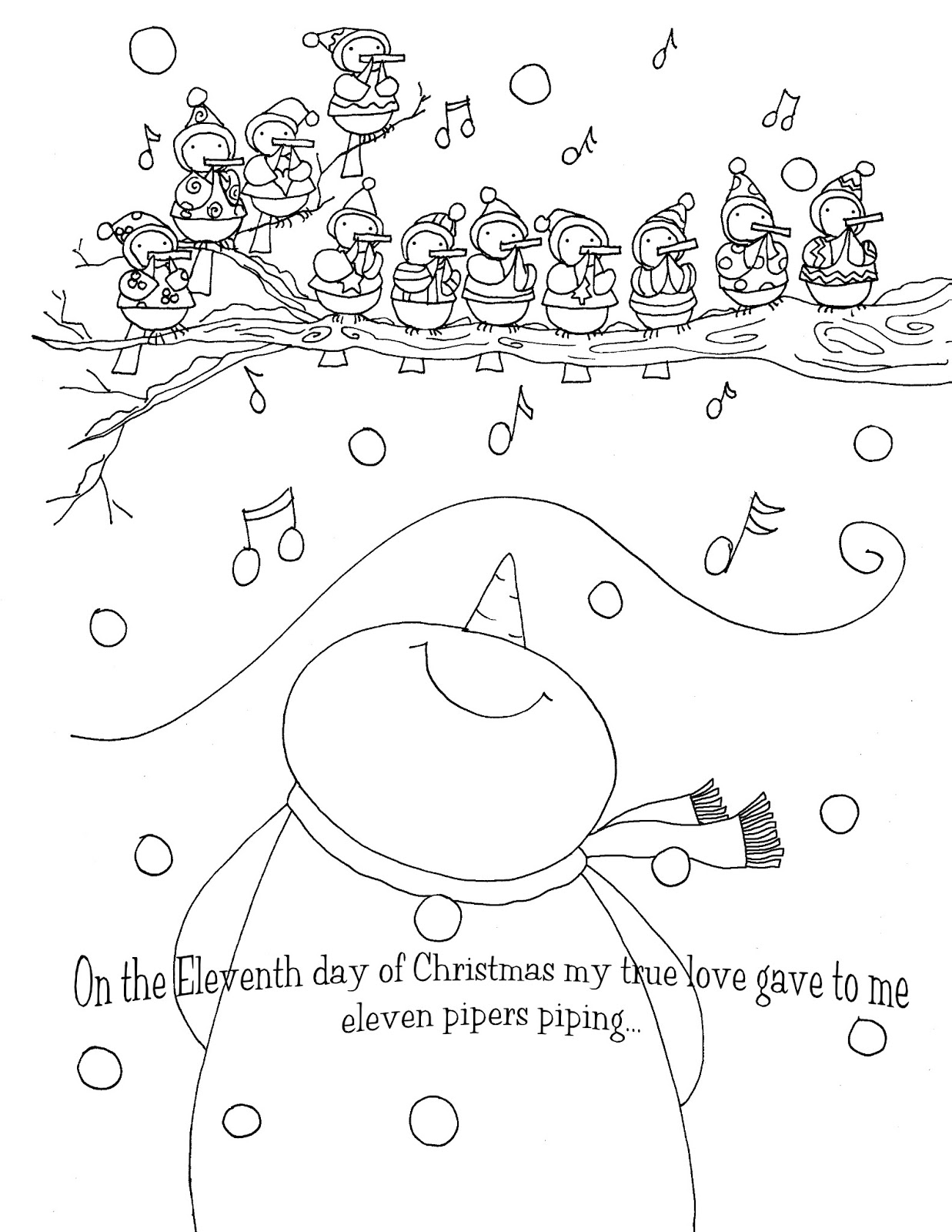 free dearie dolls digi stamps  on the eleventh day of