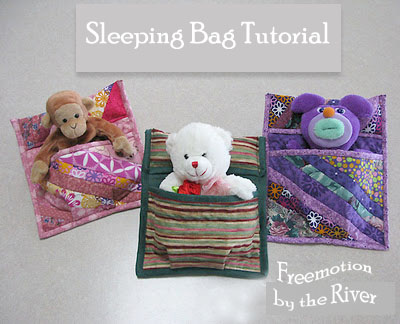 Sleeping bag tutorial @Freemotion by the River
