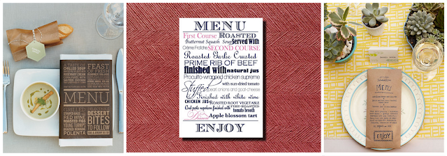 Unique menu cards ideas north carolina wedding planner