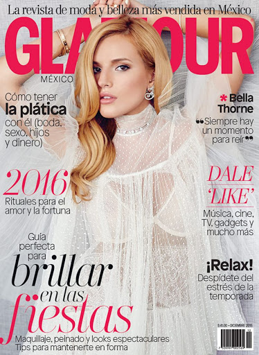 Bella Thorne sexy Glamour Magazine Mexico December 2015 cover
