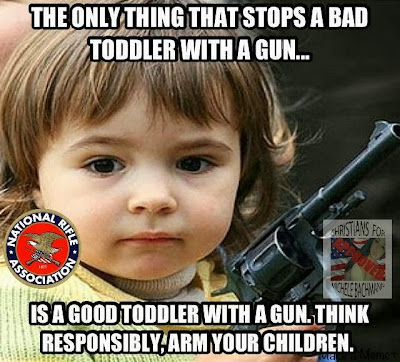 "The NRA has said ""the only way to stop a bad man with a gun is a good man with a gun"". Lets apply that logic to other things."