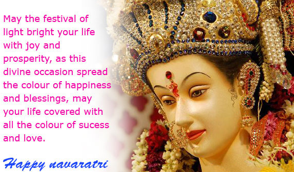 Happy Navaratre Messages SMS Wishes Blessings Images Wallpapers