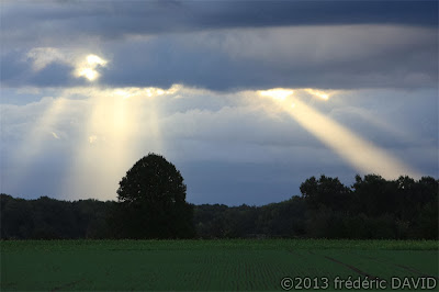 silhouette nuages rayon soleil Seine-et-Marne